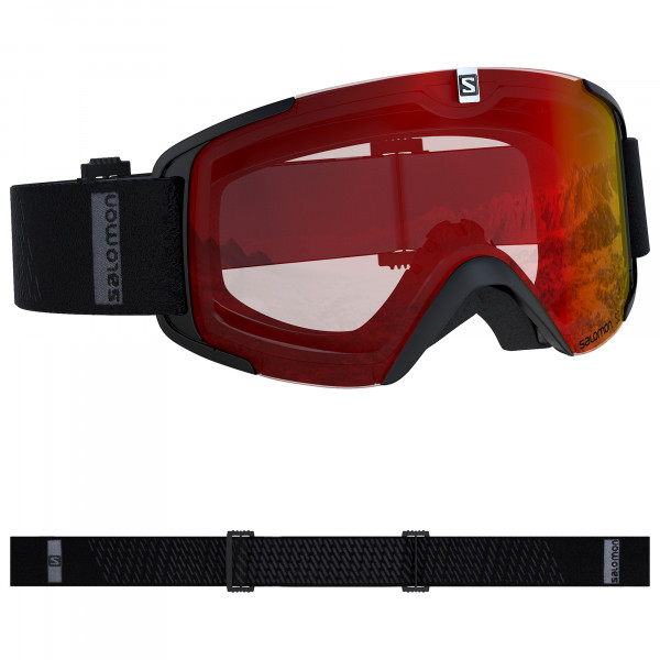 SALOMON XVIEW Skibrille Snowboardbrille (black-mid-red) Collection 2020