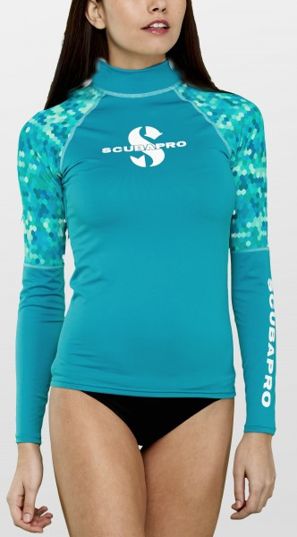 Scubapro CARIBBEAN Rash Guard Langarm Damen Slim Fit UV-Shirt
