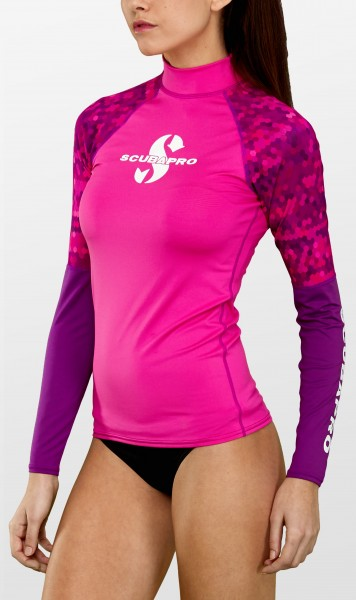 Scubapro FLAMINGO Rash Guard Langarm Damen Slim Fit UV-Shirt