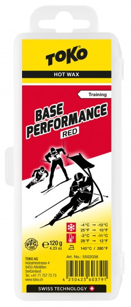 TOKO Base Performance red Skiwachs Skiwax 120g