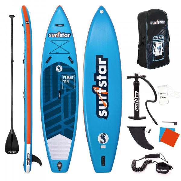 Surfstar SUP 11'6 x 33' x 6' aufblasbares Tandem Stand Up Paddling Board Collection 2021