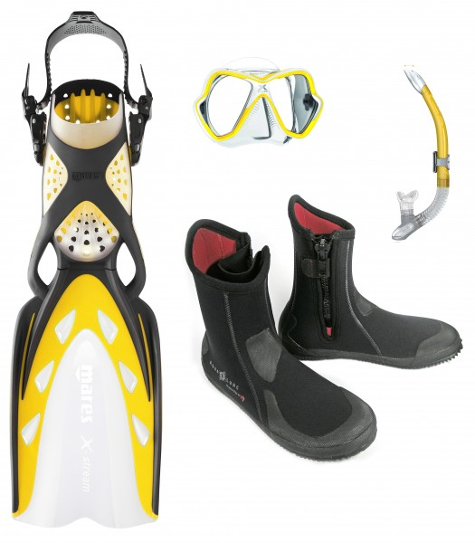 Mares ABC-Set mit X-STREAM ERGO SPLASH X-VISION NEW SUPER ZIP ERGO